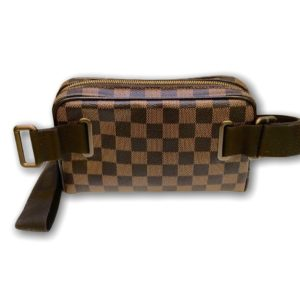 Used!Louis Bumbag Brooklyn Damier Dc.12 Damier canvas