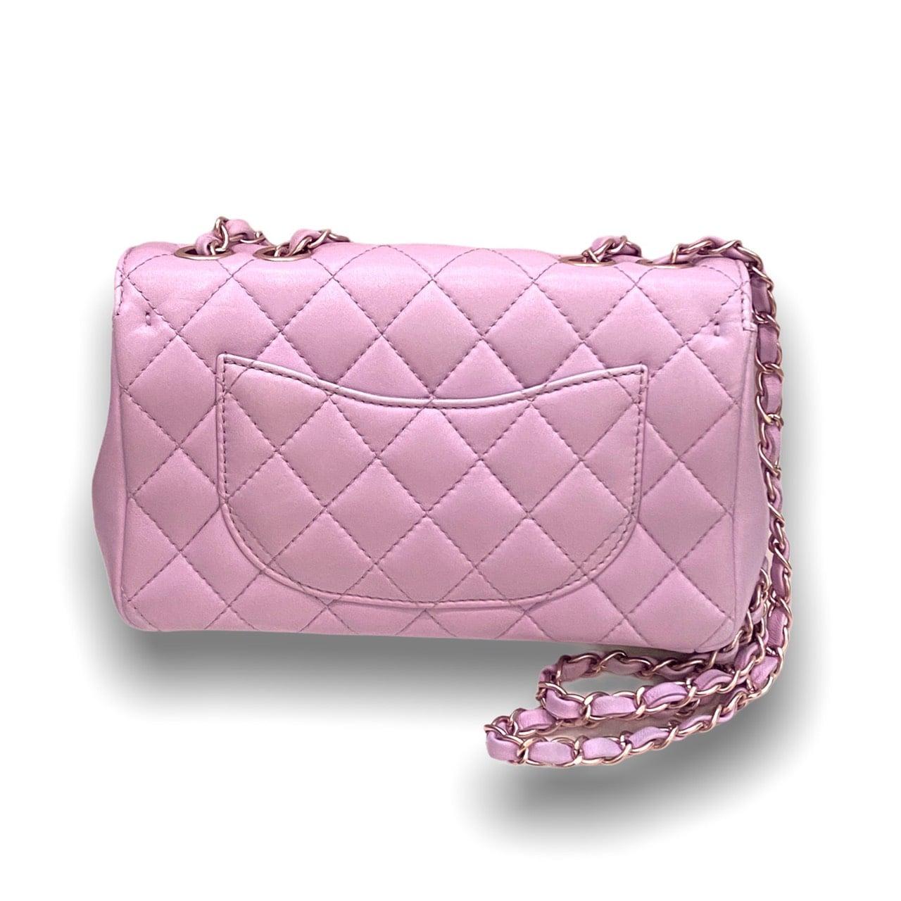 "Unused!Chanel seasonal Classic 9"" pink lambskin with gold hardware"