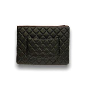 Chanel clutch bag O'case black caviar