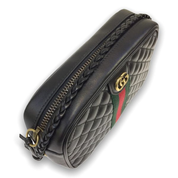 "Gucci Camera bag 18"" black leather"