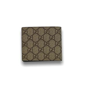 Gucci 8 card wallet GG Supreme brown with tiger