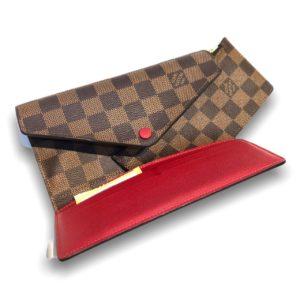 "Like New ! Louis Josephine Damier wallet DC17"""